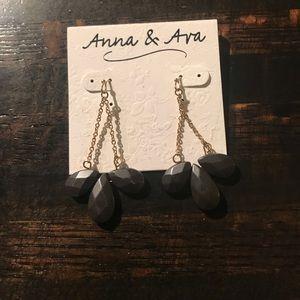 ANNA & AVA Navy Dangle Earrings